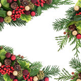 Decorative Christmas Border Stock Images