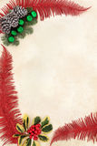 Decorative Christmas Border Stock Photography