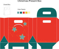 Decorative Christmas Box. With die cut tchristmas ornaments vector illustration