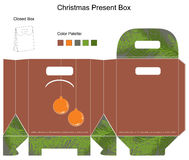 Decorative christmas box. With die cut Christmas Ornaments Stock Image