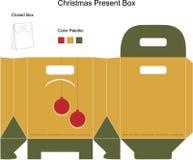 Decorative christmas box with Christmas Ornaments. Decorative christmas box with die cut Christmas Ornaments Stock Illustration