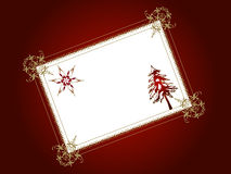 Decorative christmas card Stock Images