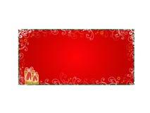 Decorative Christmas card stock photo