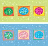 Decorative christmas card Royalty Free Stock Photography