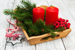 Decorative christmas composition Royalty Free Stock Photo