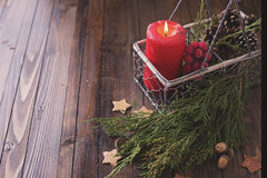 Decorative christmas composition Stock Images