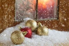 Decorative christmas composition. Holiday postcard. Stock Photos