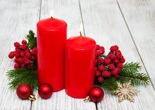 Decorative christmas composition stock photos