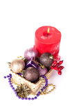 Decorative christmas composition on white Stock Images