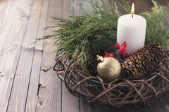 Decorative christmas composition Royalty Free Stock Images