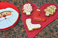 Decorative Christmas cookies Royalty Free Stock Photos