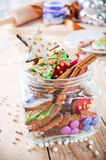 Decorative christmas cookies Royalty Free Stock Photos