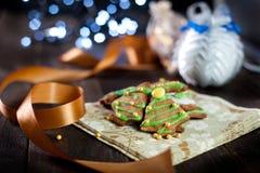 Decorative christmas cookies Stock Photos