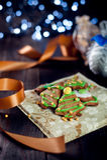 Decorative christmas cookies Stock Image