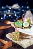 Decorative christmas cookies Stock Photo