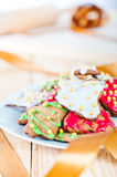 Decorative christmas cookies Stock Images