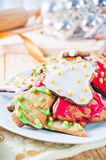 Decorative christmas cookies Royalty Free Stock Photography