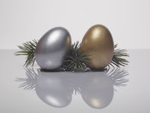 Decorative Christmas eggs Royalty Free Stock Images