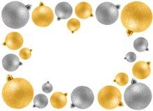 Decorative Christmas frame. Decorative golden Christmas bauble frame Royalty Free Stock Photography