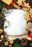 Decorative christmas frame background Stock Images