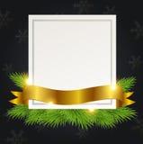 Decorative Christmas frame Stock Photography