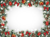 Decorative Christmas Frame Royalty Free Stock Photography