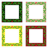 Decorative Christmas frames pack Royalty Free Stock Image