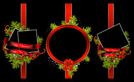 Decorative Christmas frames Royalty Free Stock Images
