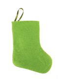 Decorative christmas green sock. Stock Photography
