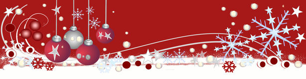 Decorative christmas header Royalty Free Stock Photography