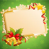 Decorative Christmas invitation postcard with traditional winter Stock Image