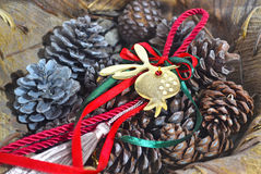 Decorative christmas lucky charm Royalty Free Stock Photography