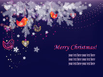 Decorative Christmas, New Year postcard Royalty Free Stock Image