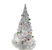 Decorative Christmas and New Year tree  on white background Stock Images
