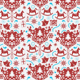 Decorative christmas paper background Stock Image