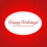 Decorative Christmas postcard Royalty Free Stock Images
