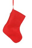Decorative christmas red sock. Stock Photography