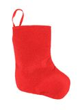 Decorative christmas red sock. Stock Photo