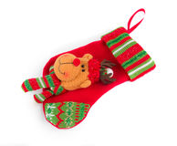 Decorative christmas red sock. Stock Images
