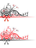 Decorative Christmas Ribbon Borders Stock Image