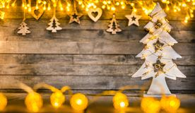 Decorative Christmas rustic background royalty free stock image