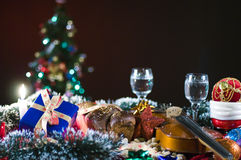 Decorative Christmas scene Royalty Free Stock Images
