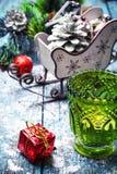 Decorative Christmas sleigh Stock Photos