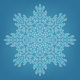 Decorative Christmas snowflake Royalty Free Stock Photos