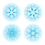 Decorative christmas snowflakes. Stock Photography