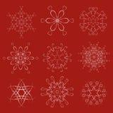Decorative Christmas Snowflakes Vector Set Royalty Free Stock Photography