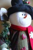 Decorative Christmas snowman. Closeup of decorative Christmas snowman with shovel or spade Royalty Free Stock Photos