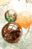 Decorative Christmas Spheres Stock Photo