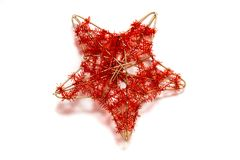 Decorative christmas star Royalty Free Stock Photo
