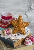 Decorative Christmas star Royalty Free Stock Photos